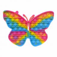Антистресс пупырка Попит (Pop It) Бабочка разноцветных пятнах