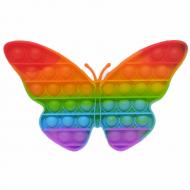 Антистресс пупырка Попит (Pop It) Бабочка разноцветная