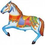 Шар (16/41 см) Мини-фигура, Лошадь цирковая, 1 шт.
