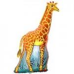 Шар (17/43 см) Мини-фигура, Жираф, Оранжевый, 1 шт.