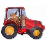 Шар (12/30 см) Мини-фигура, Трактор, Красный, 1 шт.