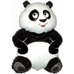 Шар (33/84 см) Фигура, Большая панда, Белый, 1 шт.