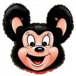 Шар (30/76 см) Фигура, Могучая мышь, Черный, 1 шт.