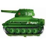 Шар (31/79 см) Фигура, Танк T-34, Зеленый, 1 шт.