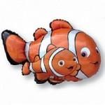 Шар (34/86 см) Фигура, Рыба-клоун Немо, Оранжевый, 1 шт.