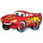 Шар (32/81 см) Фигура, Гоночная машина, Красный, 1 шт.