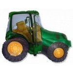 Шар (37/94 см) Фигура, Трактор, Зеленый, 1 шт.