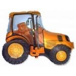 Шар (37/94 см) Фигура, Трактор, Оранжевый, 1 шт.