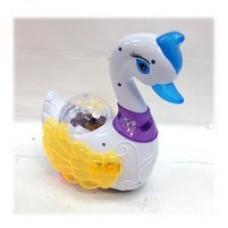 Лебедь с проектором музыкальная, светящаяся