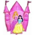 Шар (14/36 см) Мини-фигура, Замок принцессы, Розовый, 1 шт.