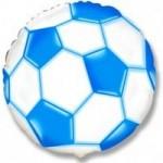 Шар (18'46 см) Круг, Футбольный мяч, Синий, 1 шт.