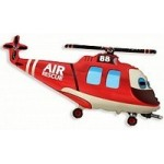 Шар (38/97 см) Фигура, Вертолет-Спасатель, 1 шт.