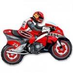Шар (12/30 см) Мини-фигура, Мотоцикл, Красный, 1 шт.