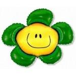 Шар (41/104 см) Фигура, Солнечная улыбка, Зеленый, 1 шт.