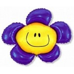 Шар (41/104 см) Фигура, Солнечная улыбка, Фиолетовый, 1 шт.