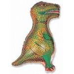 Шар (31/79 см) Фигура, Динозавр, Зеленый, 1 шт.