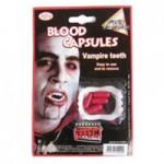 Клыки вампира+капсулы с кровью