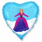 Шар (18'46 см) Сердце, Принцесса Алексия, 1 шт.